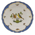 Herend Rothschild Bird Borders Blue Dinner Plate No.7 10.5 in RO-EB-01524-0-07