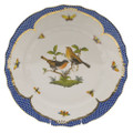 Herend Rothschild Bird Borders Blue Dinner Plate No.9 10.5 in RO-EB-01524-0-09