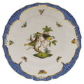 Herend Rothschild Bird Borders Blue Dinner Plate No.11 10.5 in RO-EB-01524-0-11