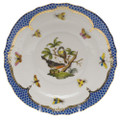 Herend Rothschild Bird Borders Blue Salad Plate No. 2 7.5 in RO-EB-01518-0-02