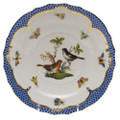 Herend Rothschild Bird Borders Blue Salad Plate No. 5 7.5 in RO-EB-01518-0-05