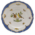 Herend Rothschild Bird Borders Blue Salad Plate No. 7 7.5 in RO-EB-01518-0-07