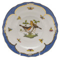 Herend Rothschild Bird Borders Blue Salad Plate No. 9 7.5 in RO-EB-01518-0-09