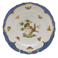 Herend Rothschild Bird Borders Blue Salad Plate No. 10 7.5 in RO-EB-01518-0-10