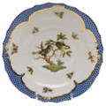 Herend Rothschild Bird Borders Blue Salad Plate No. 11 7.5 in RO-EB-01518-0-11