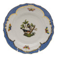 Herend Rothschild Bird Borders Blue Bread and Butter Plate No. 2 6 in RO-EB-01515-0-02
