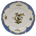 Herend Rothschild Bird Borders Blue Bread and Butter Plate No. 3 6 in RO-EB-01515-0-03