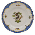 Herend Rothschild Bird Borders Blue Bread and Butter Plate No. 4 6 in RO-EB-01515-0-04