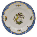 Herend Rothschild Bird Borders Blue Bread and Butter Plate No. 6 6 in RO-EB-01515-0-06