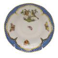 Herend Rothschild Bird Borders Blue After Dinner Saucer 4.5 in RO-EB-00711-1-00