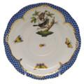 Herend Rothschild Bird Borders Blue Tea Saucer No.4 6 in RO-EB-00734-1-04