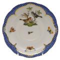 Herend Rothschild Bird Borders Blue Tea Saucer No.5 6 in RO-EB-00734-1-05