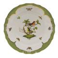 Herend Rothschild Bird Borders Green Dinner Plate No.3 10.5 in RO-EV-01524-0-03