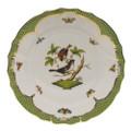 Herend Rothschild Bird Borders Green Dinner Plate No.4 10.5 in RO-EV-01524-0-04