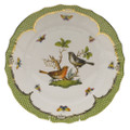Herend Rothschild Bird Borders Green Dinner Plate No.5 10.5 in RO-EV-01524-0-05