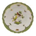 Herend Rothschild Bird Borders Green Dinner Plate No.6 10.5 in RO-EV-01524-0-06