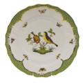 Herend Rothschild Bird Borders Green Dinner Plate No.7 10.5 in RO-EV-01524-0-07