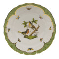 Herend Rothschild Bird Borders Green Dinner Plate No.8 10.5 in RO-EV-01524-0-08