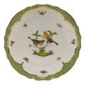 Herend Rothschild Bird Borders Green Dinner Plate No.9 10.5 in RO-EV-01524-0-09