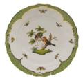 Herend Rothschild Bird Borders Green Dinner Plate No.10 10.5 in RO-EV-01524-0-10
