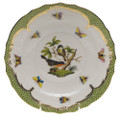 Herend Rothschild Bird Borders Green Salad Plate No.2 7.5 in RO-EV-01518-0-02