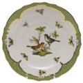 Herend Rothschild Bird Borders Green Salad Plate No.5 7.5 in RO-EV-01518-0-05