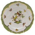 Herend Rothschild Bird Borders Green Salad Plate No.6 7.5 in RO-EV-01518-0-06