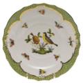 Herend Rothschild Bird Borders Green Salad Plate No.7 7.5 in RO-EV-01518-0-07