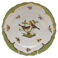 Herend Rothschild Bird Borders Green Salad Plate No.9 7.5 in RO-EV-01518-0-09