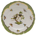 Herend Rothschild Bird Borders Green Salad Plate No.11 7.5 in RO-EV-01518-0-11