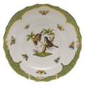 Herend Rothschild Bird Borders Green Salad Plate No.12 7.5 in RO-EV-01518-0-12
