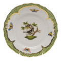 Herend Rothschild Bird Borders Green Bread and Butter Plate No.1 6 in RO-EV-01515-0-01