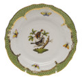 Herend Rothschild Bird Borders Green Bread and Butter Plate No.4 6 in RO-EV-01515-0-04