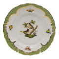 Herend Rothschild Bird Borders Green Bread and Butter Plate No.8 6 in RO-EV-01515-0-08