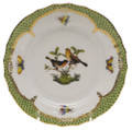 Herend Rothschild Bird Borders Green Bread and Butter Plate No.9 6 in RO-EV-01515-0-09