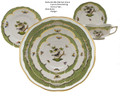 Herend Rothschild Bird Borders Green 5-piece Place Setting