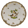 Herend Rothschild Bird Borders Brown Dinner Plate No.8 10.5 in ROETM201524-0-08