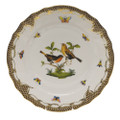 Herend Rothschild Bird Borders Brown Dinner Plate No.9 10.5 in ROETM201524-0-09