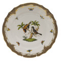 Herend Rothschild Bird Borders Brown Dinner Plate No.12 10.5 in ROETM201524-0-12