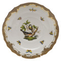 Herend Rothschild Bird Borders Brown Salad Plate No.2 7.5 in ROETM201518-0-02