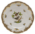 Herend Rothschild Bird Borders Brown Salad Plate No.4 7.5 in ROETM201518-0-04