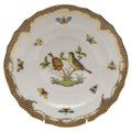 Herend Rothschild Bird Borders Brown Salad Plate No.7 7.5 in ROETM201518-0-07