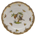 Herend Rothschild Bird Borders Brown Salad Plate No.12 7.5 in ROETM201518-0-12