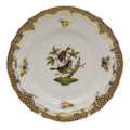 Herend Rothschild Bird Borders Brown Bread and Butter Plate No.4 6 in ROETM201515-0-04