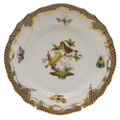 Herend Rothschild Bird Borders Brown Bread and Butter Plate No.6 6 in ROETM201515-0-06