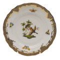 Herend Rothschild Bird Borders Brown Bread and Butter Plate No.10 6 in ROETM201515-0-10