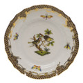 Herend Rothschild Bird Borders Brown Bread and Butter Plate No.11 6 in ROETM201515-0-11