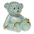 Herend Small Teddy Bear Fishnet Green 2.5 x 2.5 in SVHV--15974-0-00