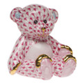Herend Small Teddy Bear Fishnet Raspberry 2.5 x 2.5 in SVHP--15974-0-00