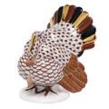 Herend Tom Turkey Fishnet Brown 2.5 x 3.25 in VHBR2-05230-0-00